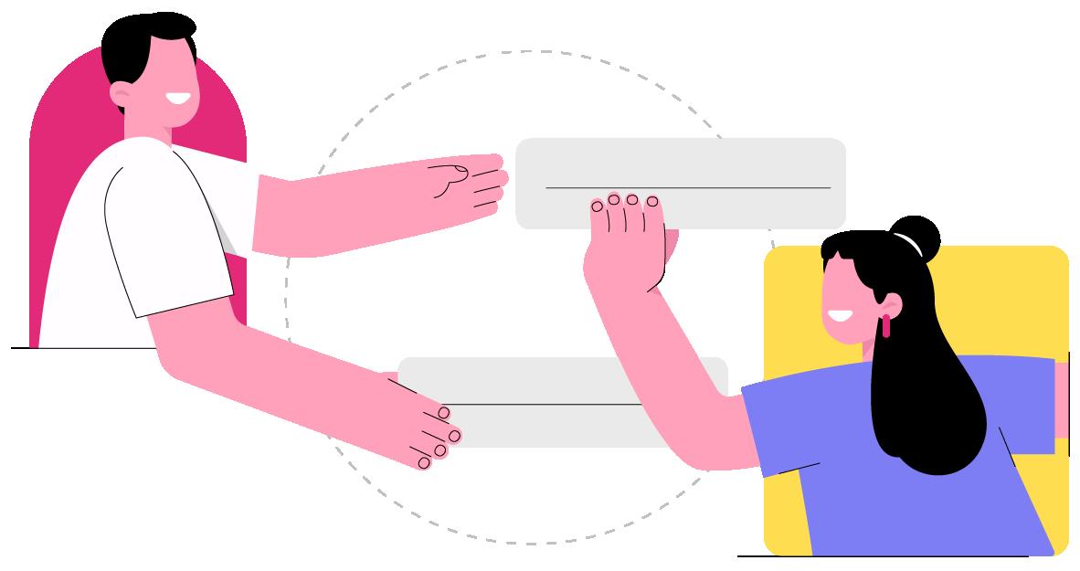 Um celular mostrando links para os produtos do Postgrain